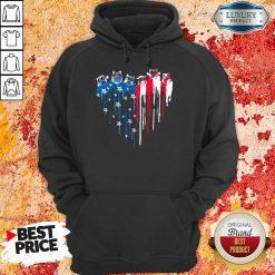 American Heart Owl Freedom Colors Hoodie