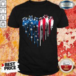 American Heart Owl Freedom Colors Shirt